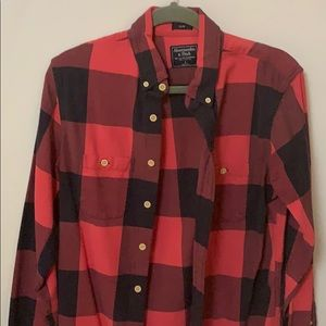 A and F Slim long sleeve flannel shirt.